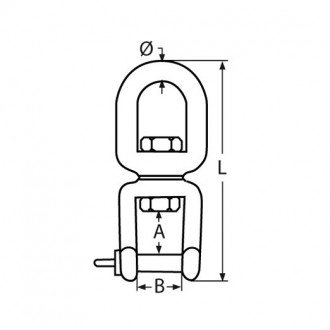 Sacavueltas Anilla-Grillete Inox 316