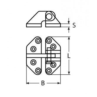 Bisagra Inox 316