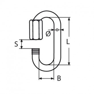 Grillete Ovalado Inox 316