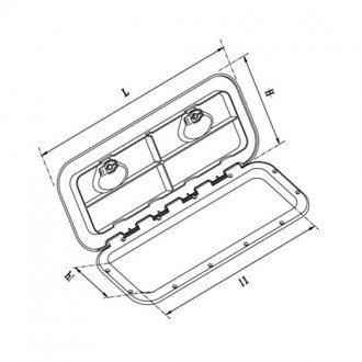 Registro Rectangular 353 x 606mm