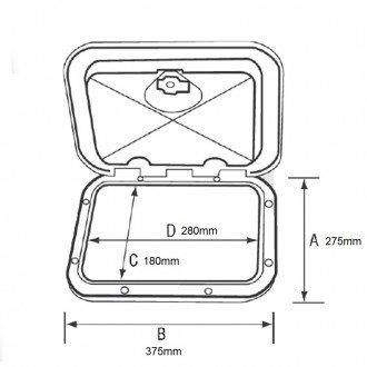 Registro Cofre con cajones 275x375mm
