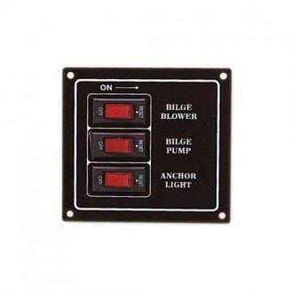 Panel de 3 interruptores
