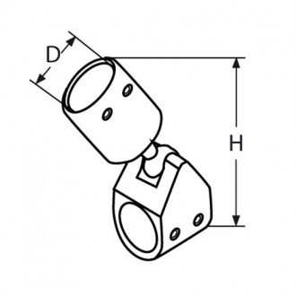 Terminal articulado para tubo de capota