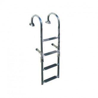 Escalera Plegable Inox 316 4 Peldaños