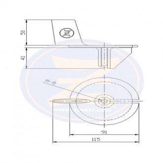 Anodo Zineti aleta Mercury-Mercruiser 20-25 HP