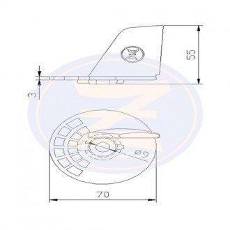 Anodo Zineti aleta Suzuki 20/25/30 HP