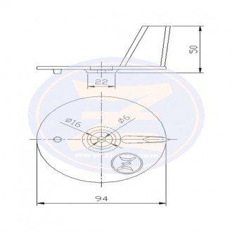 Anodo Zineti fueraborda Yamaha 20/50 HP