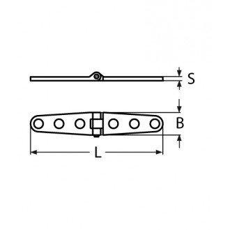 Bisagra Fundicion Inox 316 de 160x27mm