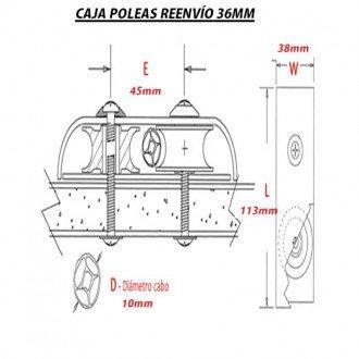 Caja poleas reenvio doble Holt