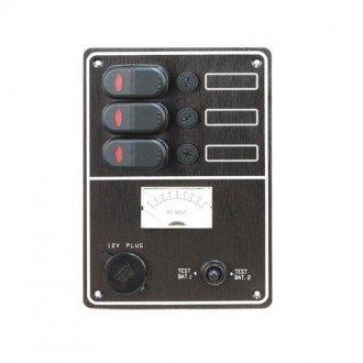Panel test batería y toma corriente