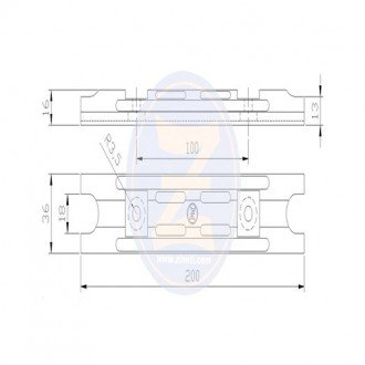 Anodo Zineti placa soporte Yamaha