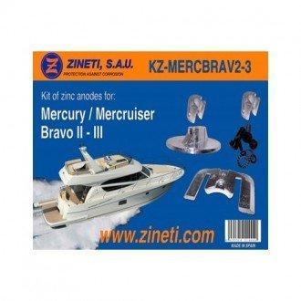 Kit anodos Zineti Mercury-Mercruiser Bravo II-III