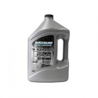Aceite Quicksilver 4 Tiempos 25W-40 Sintetico 4 Litros