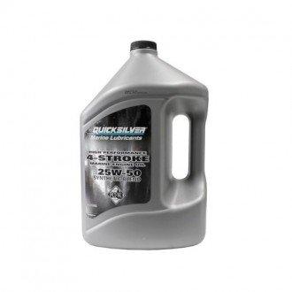 Aceite Quicksilver 4 Tiempos 25W-50 Sintetico Verado 4 Litros