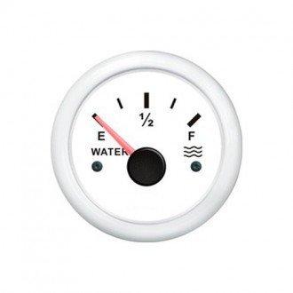 Indicador nivel de agua blanco