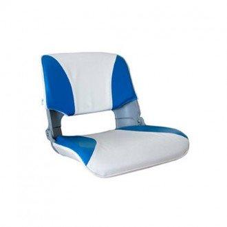 Asiento plegable blanco-azul