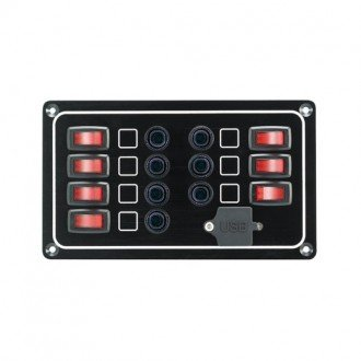 Panel electrico 7 interruptor y puerto USB