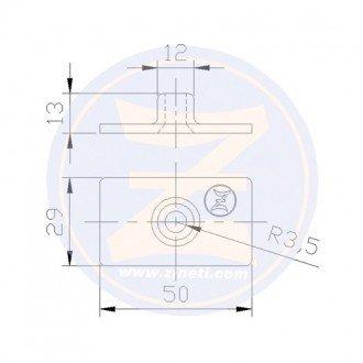 Anodo Zineti placa 4,5-7,5-9,8HP Mercury/Mercruiser