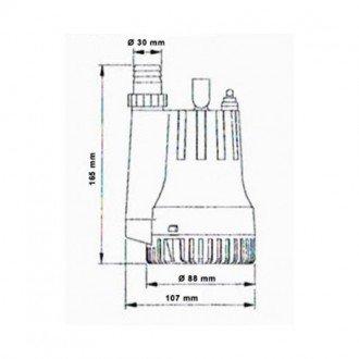 Bomba de Achique TMC con Salida Vertical 1000GPH