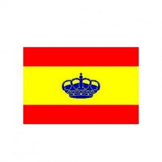 Bandera Adhesiva España con Corona 210x140 mm