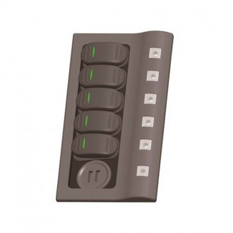 Panel 5 interruptores y doble USB