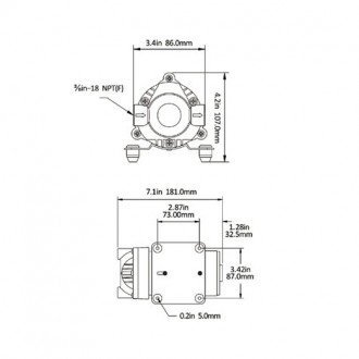 Bomba de Agua a Presion Seaflo 7 LPM / 120 PSI