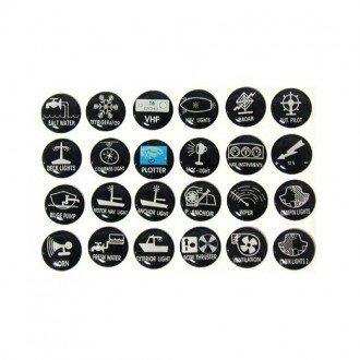 Etiquetas adhesivas para paneles de control
