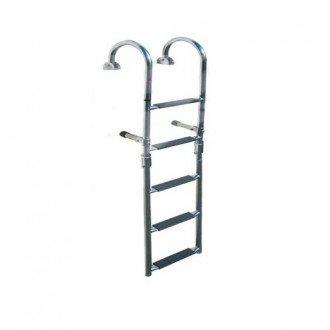 Escalera Plegable Inox 316 5 Peldaños