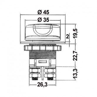 Desconectador de Bateria Compacto 100A