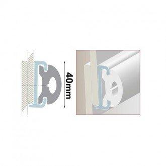 Cinton plastico flexible para perfil PVC
