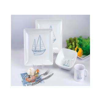 "Vajilla Melamina "" Sailing Series"" (16 piezas)"