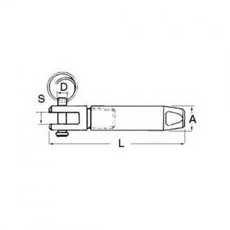 Terminal Horquilla para Cable Parafil 9mm