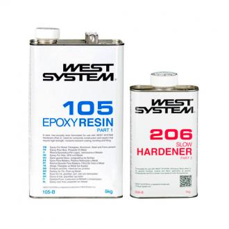 Kit Resina Epoxi West System 1,2Kg Catalizador Lento