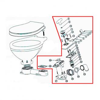 Bomba de Repuesto para Inodoro Manual LT