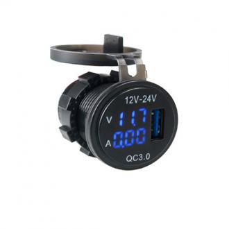 Voltimetro y Amperimetro con USB 12-24V