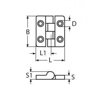 Bisagra Inox 40x40mm
