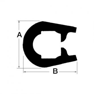 Cinton PVC Blanco 37x45mm (12 metros)