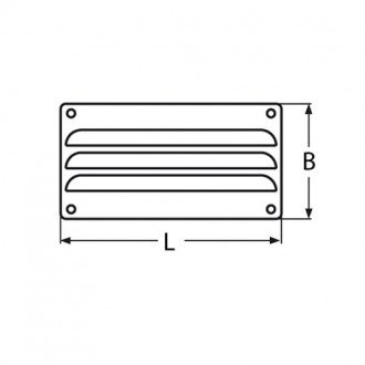 Rejilla ventilacion Inox 127x66mm