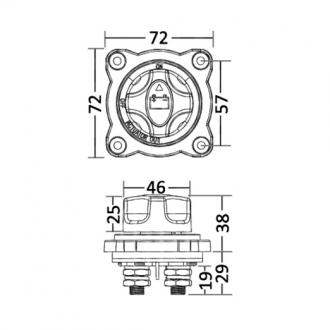 Desconectador de Bateria Semi-Empotrado 300A