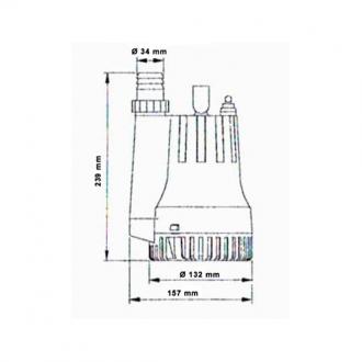 Bomba de Achique TMC con Salida Vertical 2500GPH
