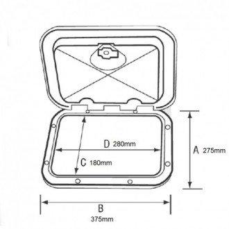 Registro Cofre con Cajones 275x375mm (con Cerradura)
