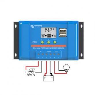 Controlador de Carga PWM LCD&USB Victron Energy