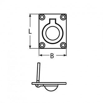 Tirador Fundicion Inox 316 47x35mm