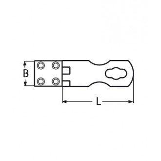 Cierre Inox 67x30mm