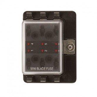 Caja 6 fusibles indicador LED
