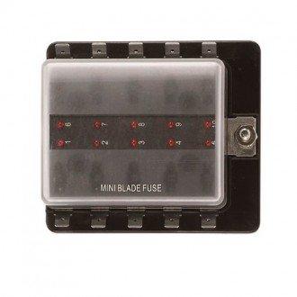 Caja 10 fusibles indicador LED
