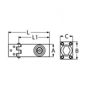 Cerradura inox 98x30mm con llave