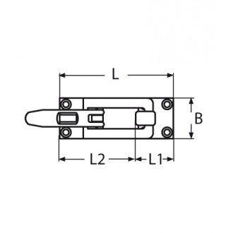 Cierre Inox 316 75x32mm