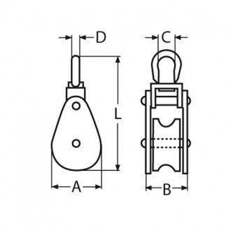 Polea Inox Simple